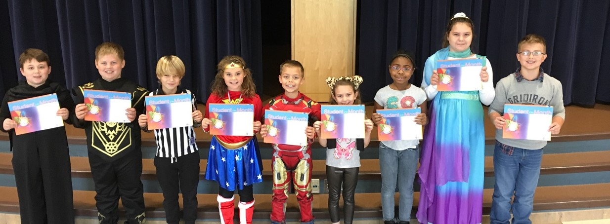 Third Grade Students who are Student of the month for being Respectful