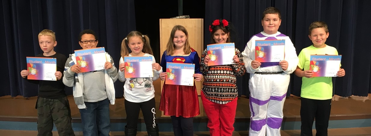 Fourth Grade Students who are Student of the month for being Respectful