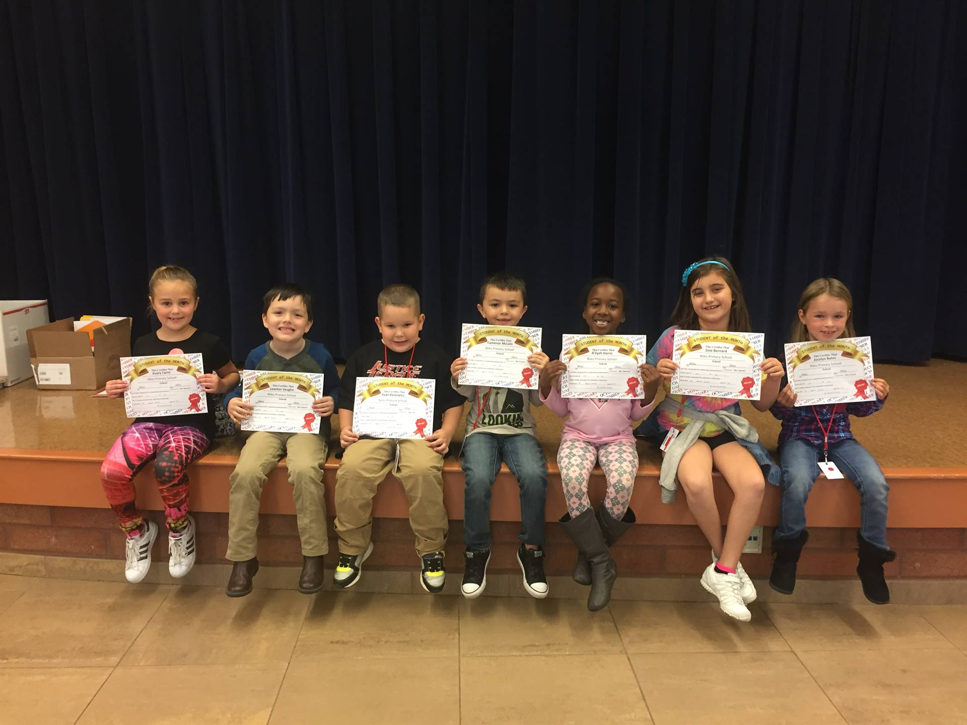 September 2017 Student of the Month--First Grade