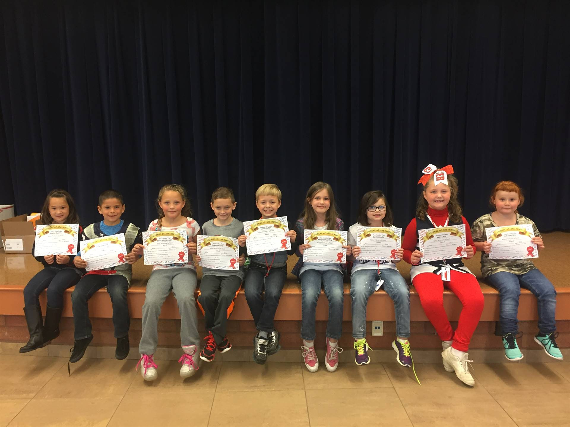 September 2017 Student of the Month--Second Grade