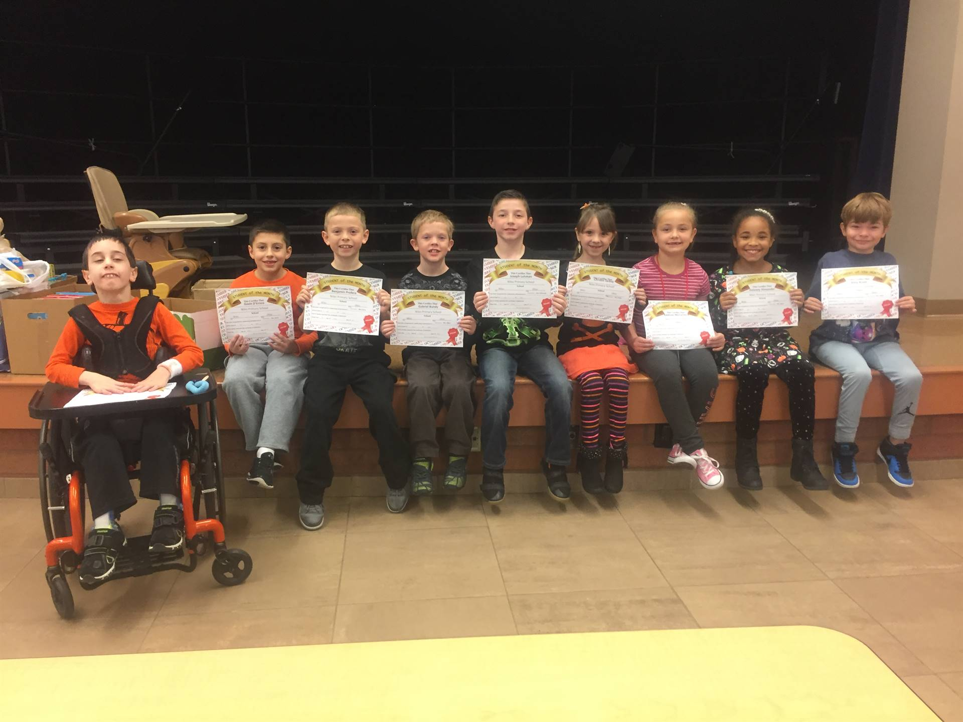 October 2017 Student of the Month--Grade Two
