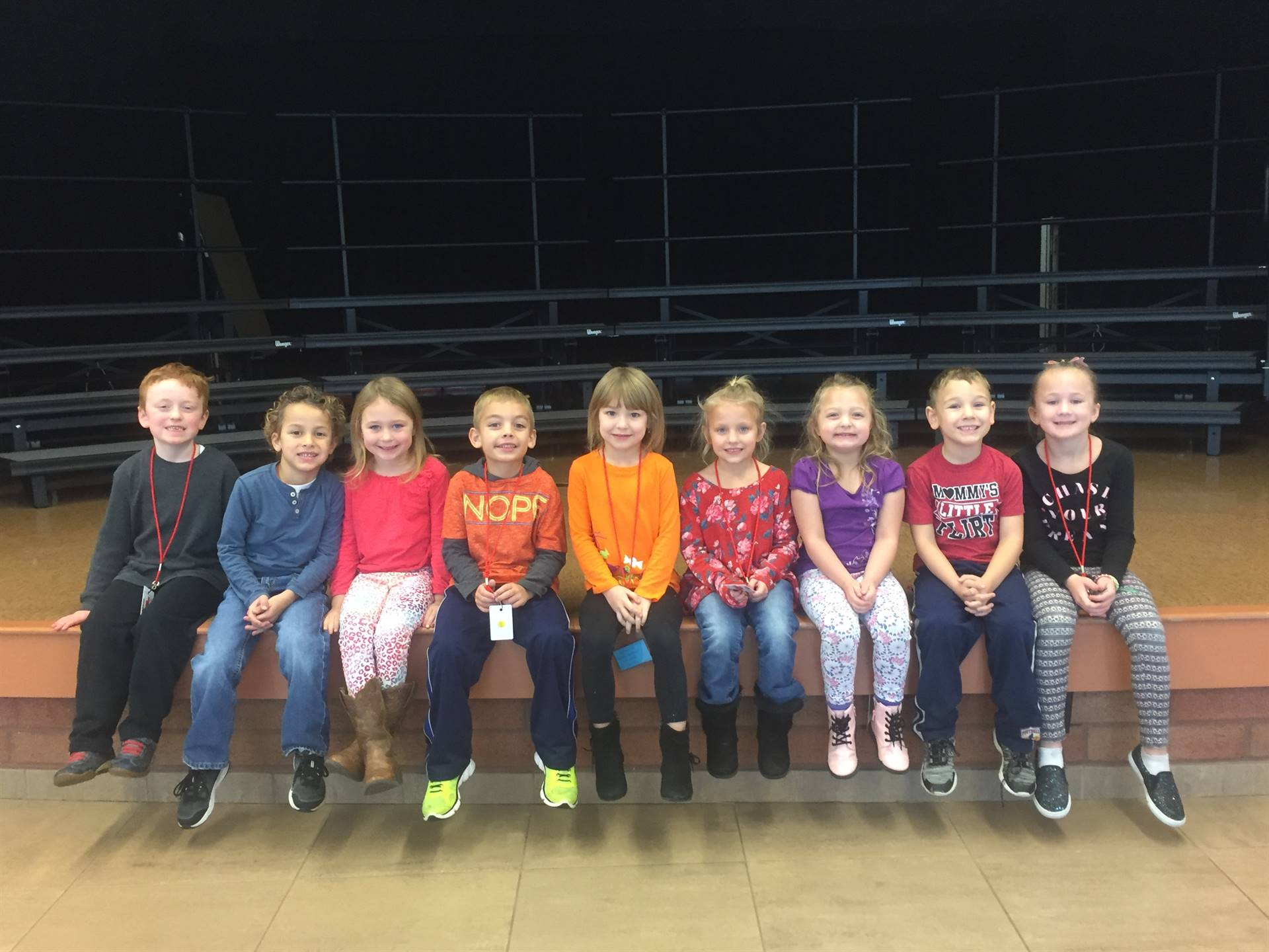 Kindergarten  November 2017 Students of the Month