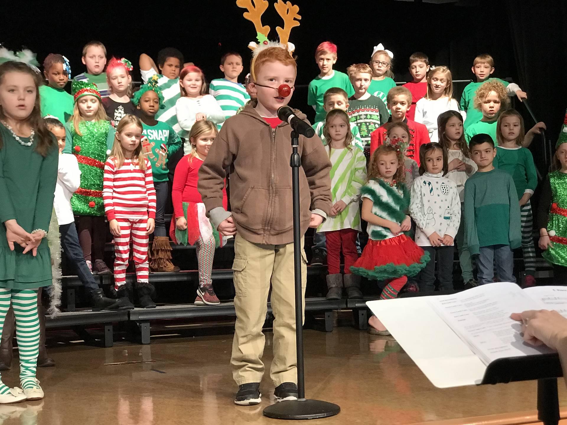 Mrs. Enyeart, Mrs. Duncan, Mrs. Morrison, Mrs. Ward-- Christmas Program 2017