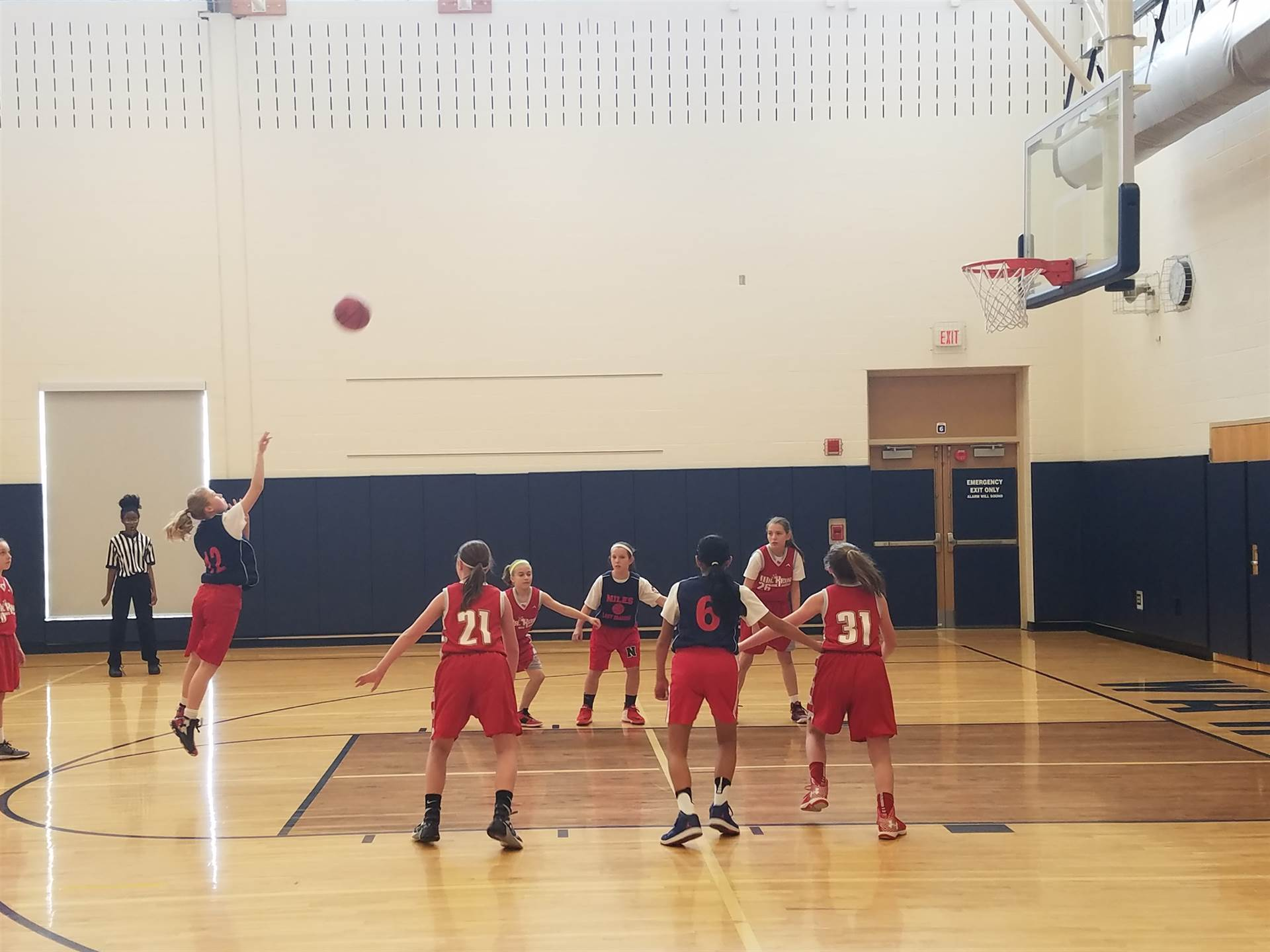5th Grade Lady Dragons vs West Middlesex in the Brookfield tournament