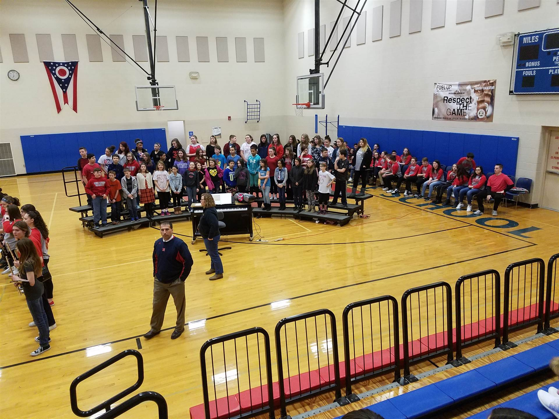 NMS Choir students perform for the 5th graders! :)