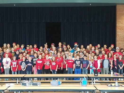 Red Ribbon Week 2016_Red and Blue Spirit Day_5th Graders