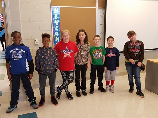 """Students of the Month (October) in Fourth Grade chosen by their teachers for high marks in """"Res"""