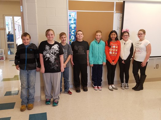 """Students of the Month (October) in Fifth Grade chosen by their teachers for high marks in """"Resp"""