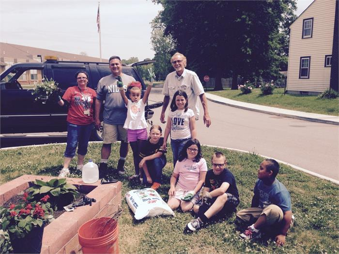 Students give back to the community.