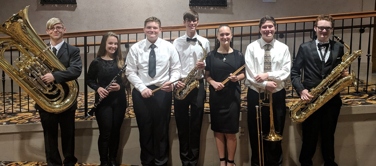 OMEA Honors Band performs at Stambaugh