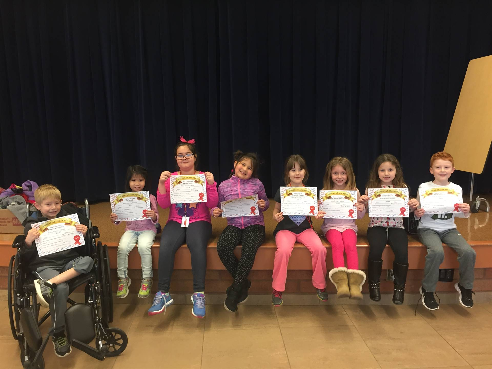 First Grade January 2018 Student of the Month
