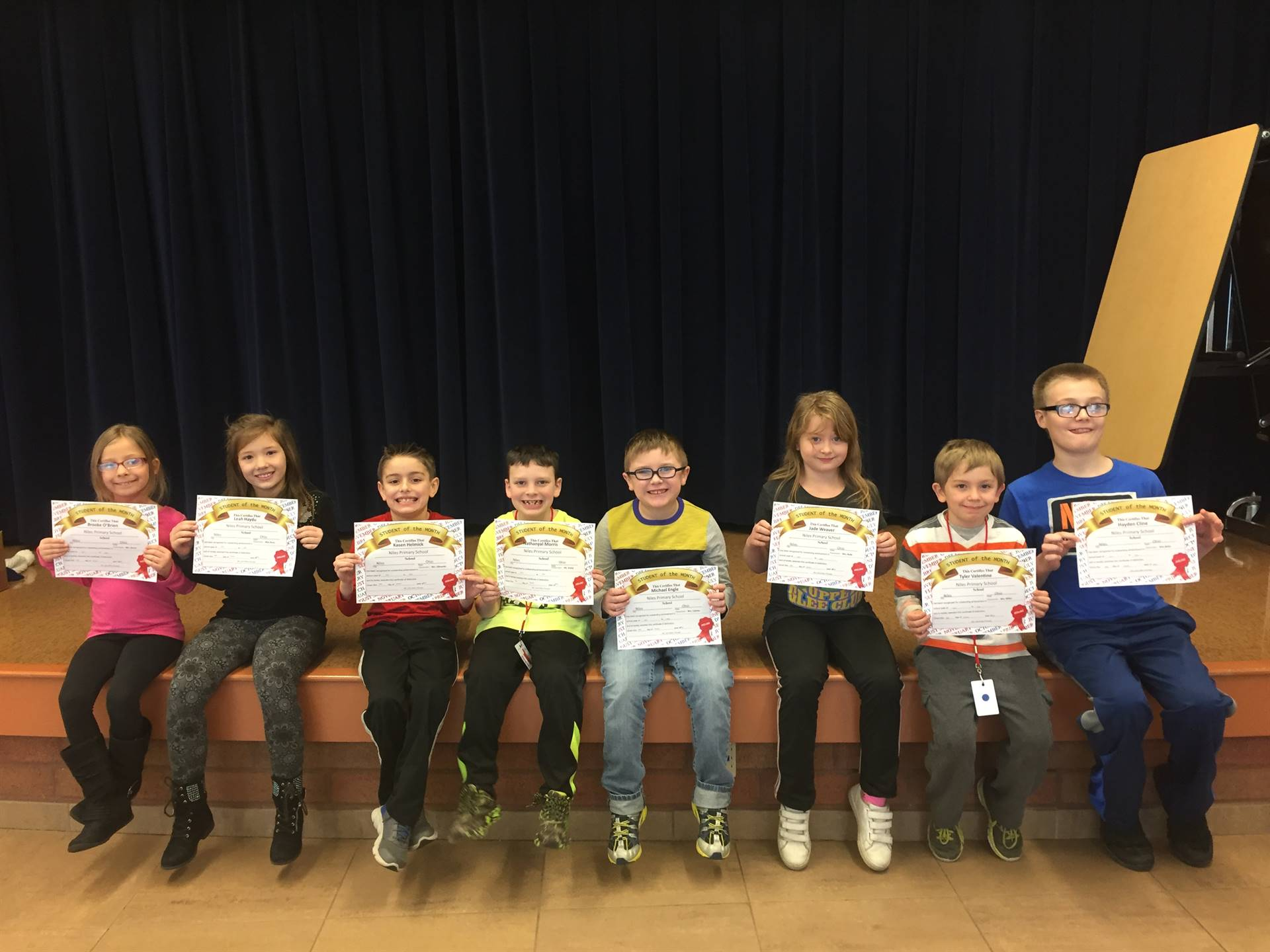 Second Grade January 2018 Student of the Month