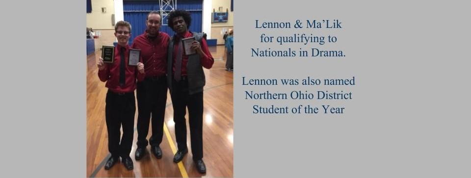 Congratulations Speech Team (MaLik and Lennon)
