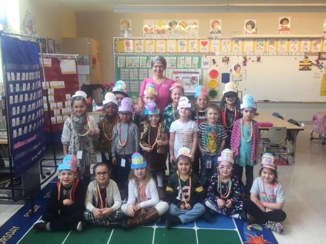 Kindergarten 100th day celebration 2.13.18