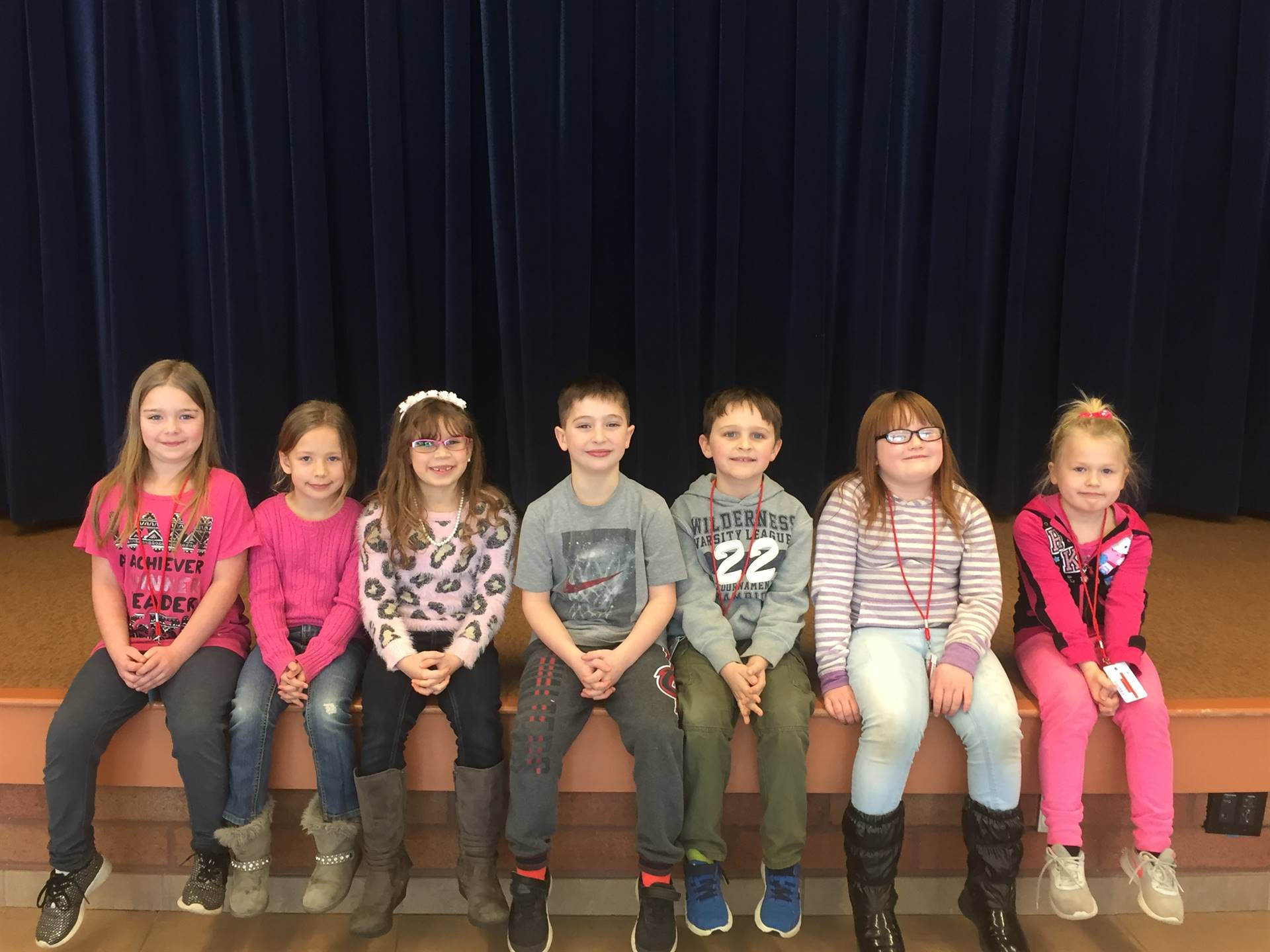 February 2018 First Grade Student of the Month