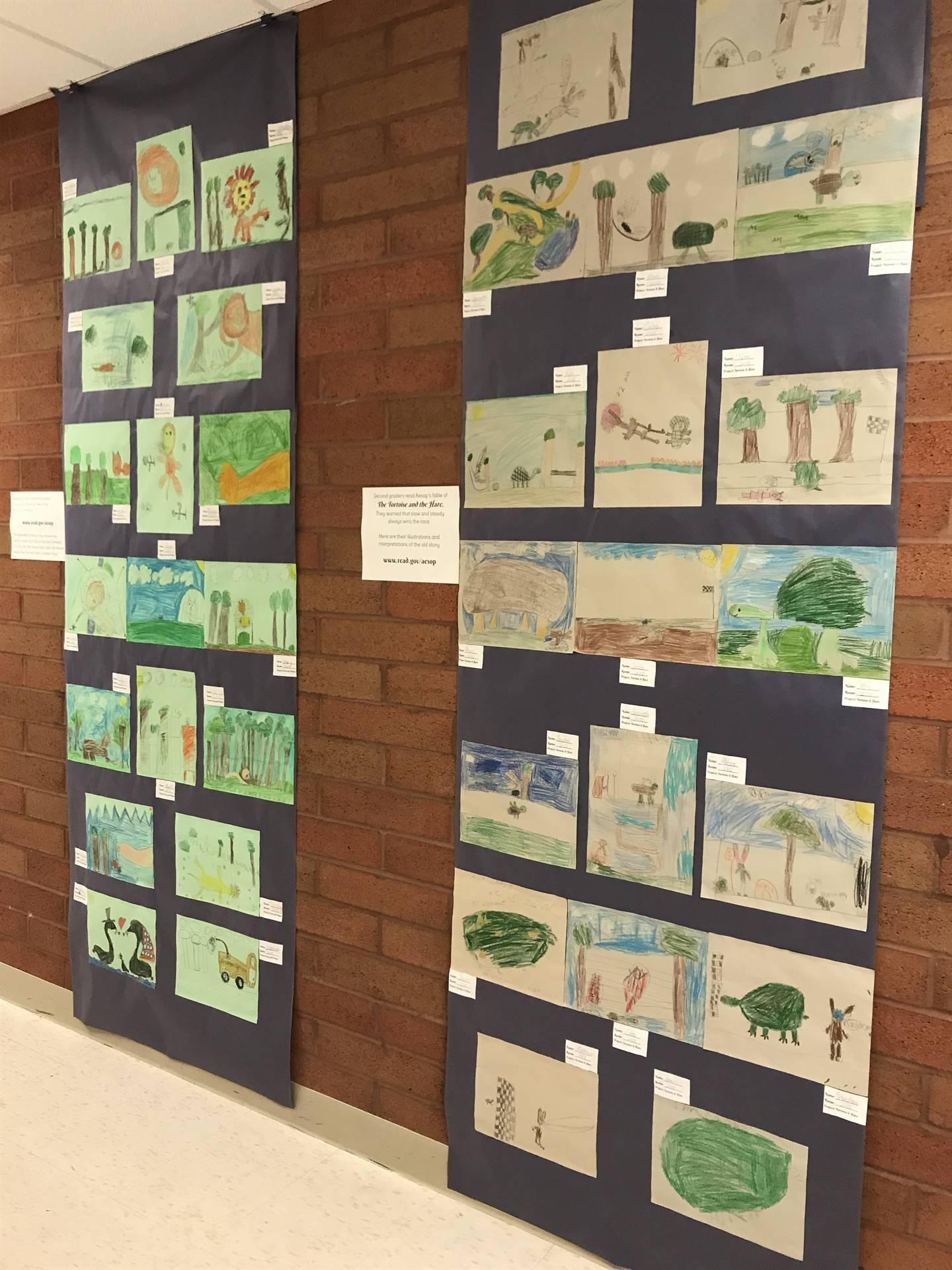 Arts Night 4.11.18 Children's Art Work displays