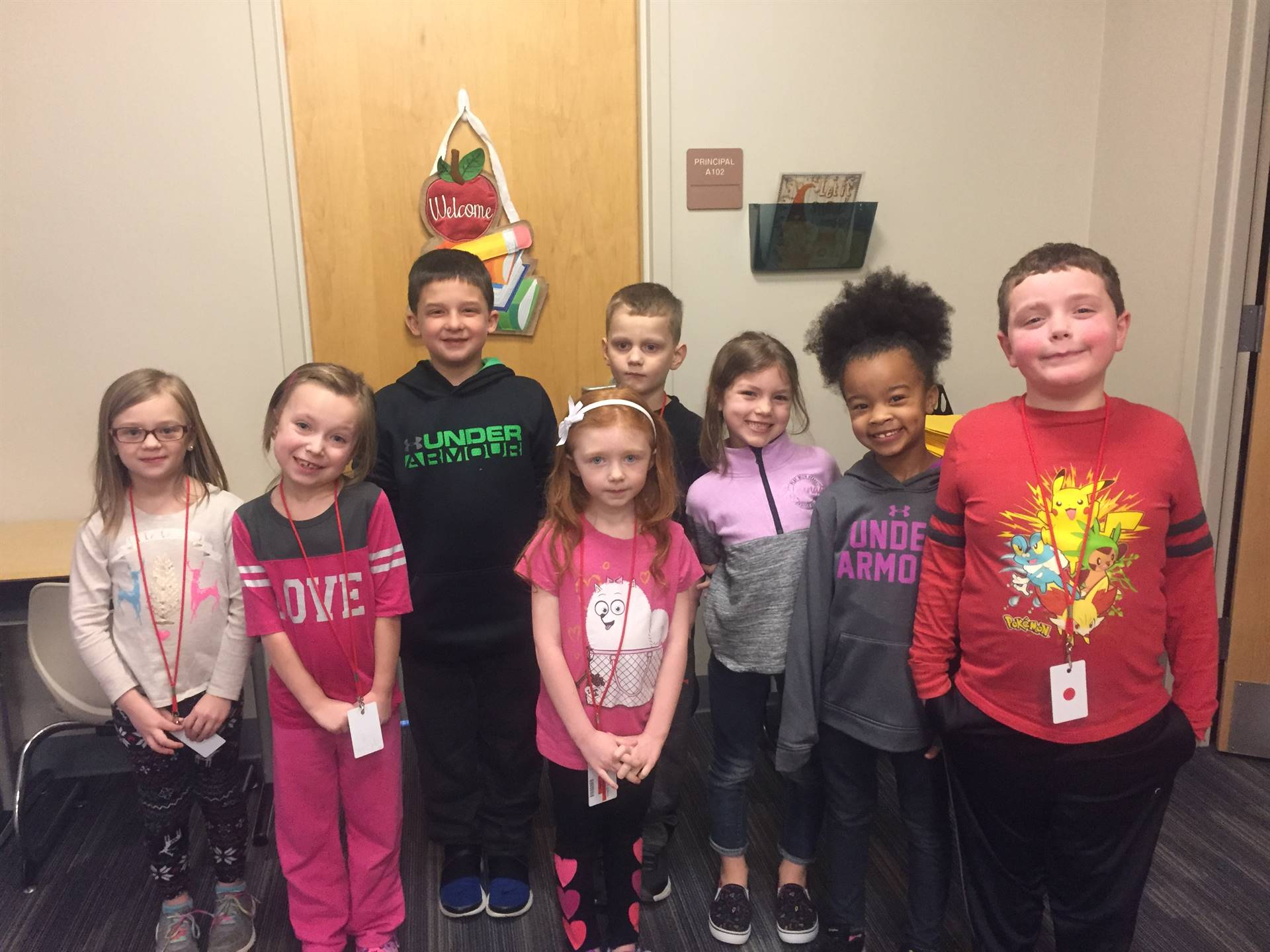 March 2018 Student of the month First Grade