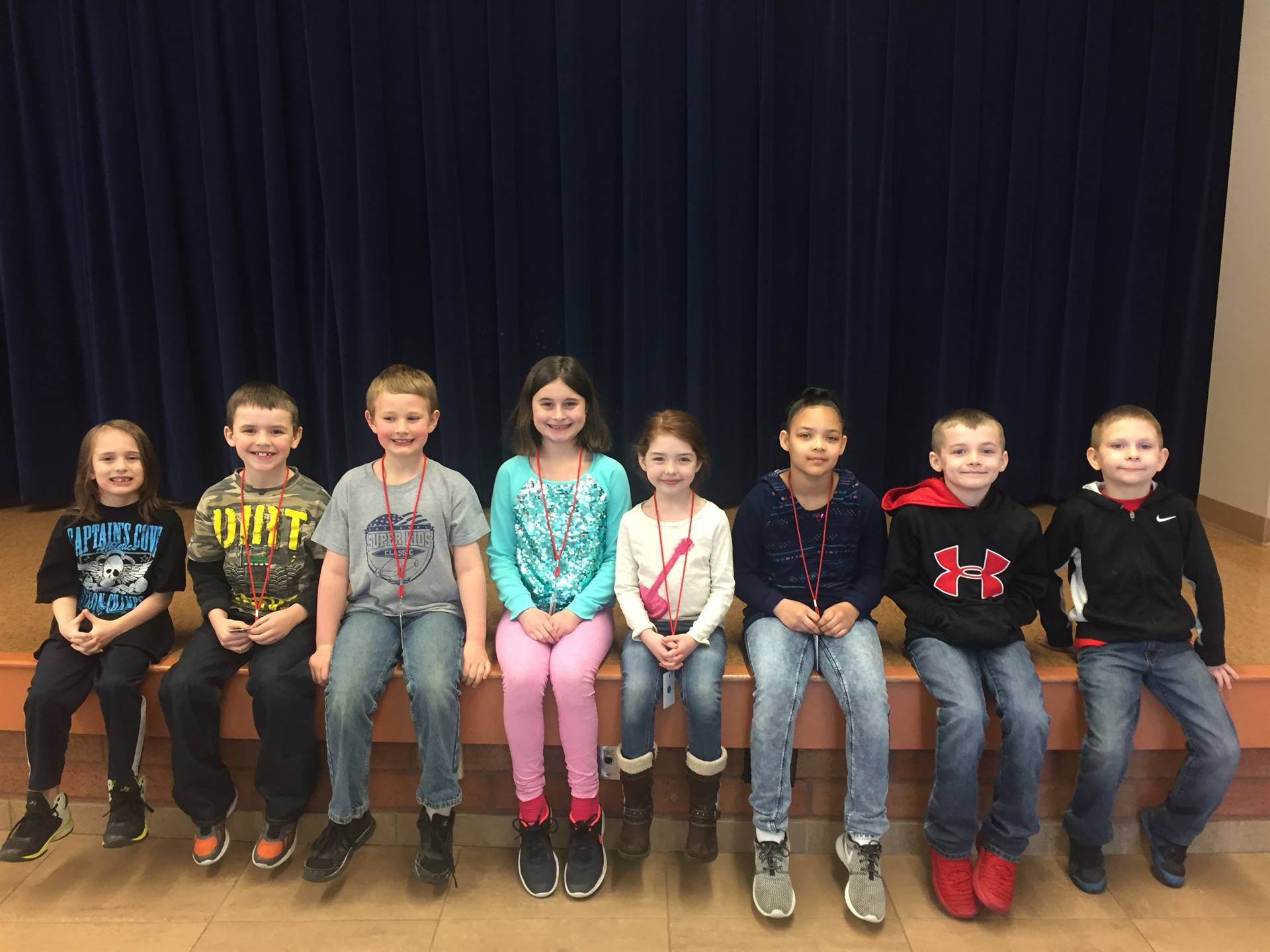 March 2018 Student of the month Second Grade