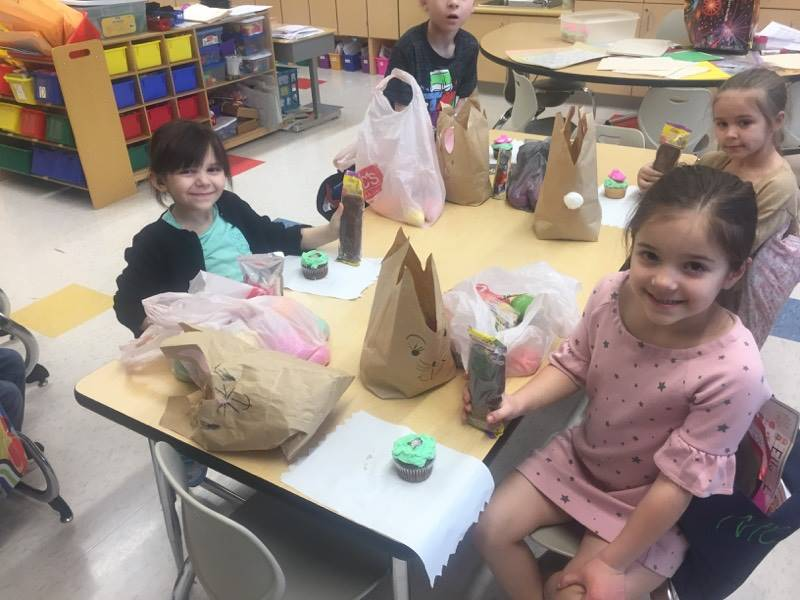 Mrs. Pantelis's class Easter Egg Hunt and Party