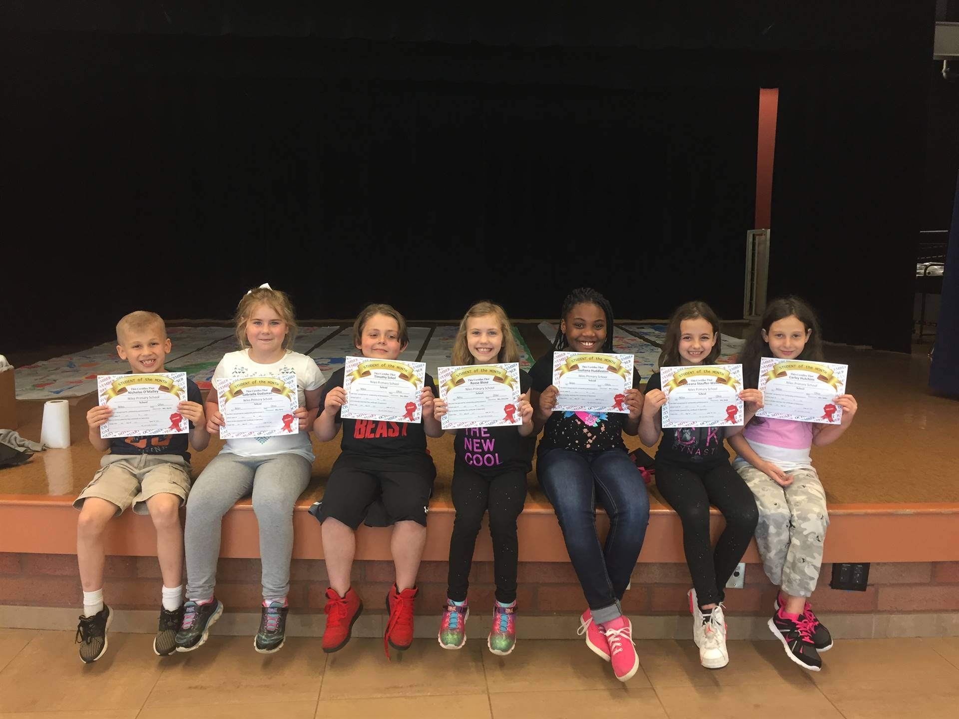 April Student of the Month; Second grade
