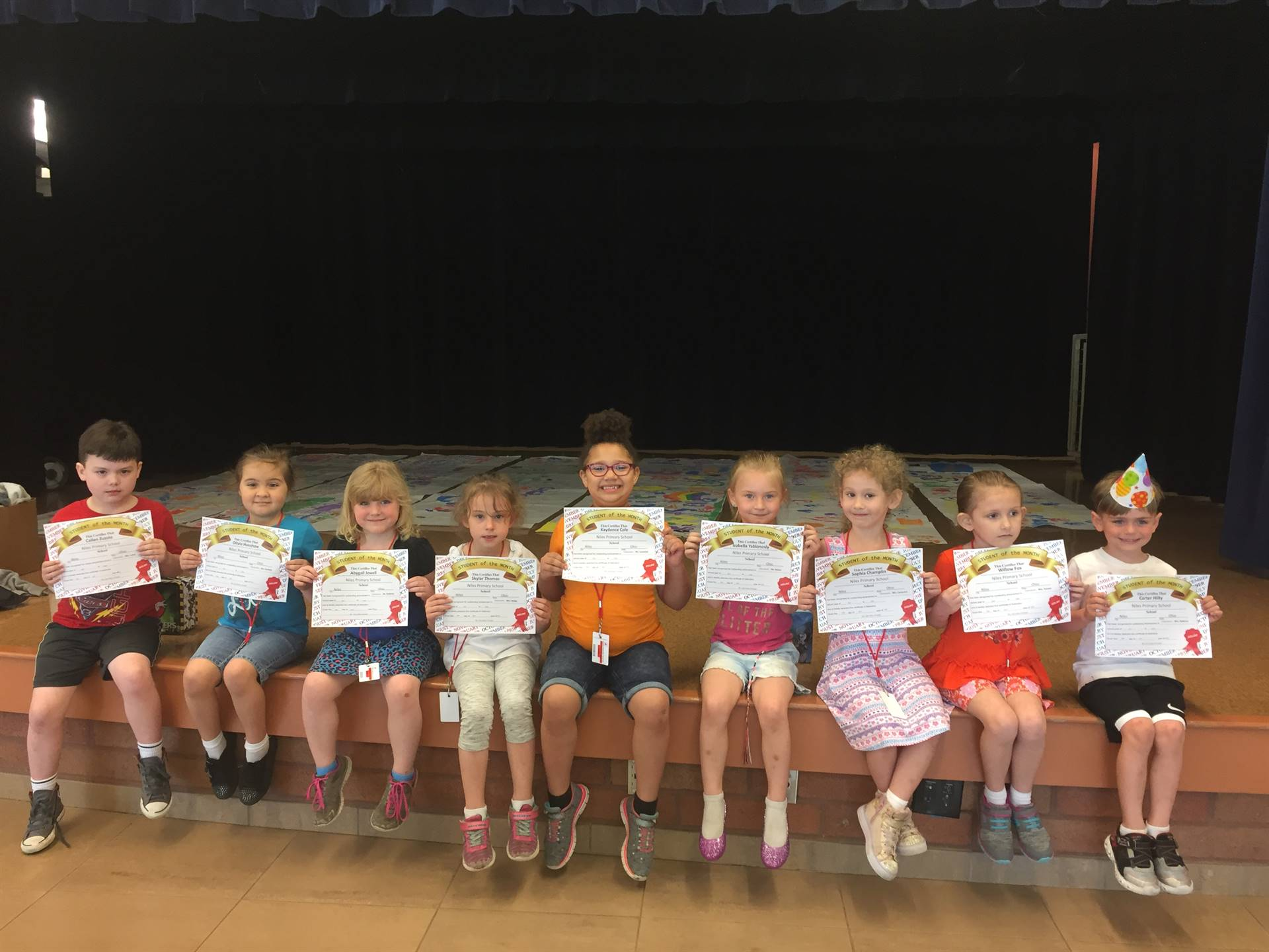 April Student of the Month; Kindergarten