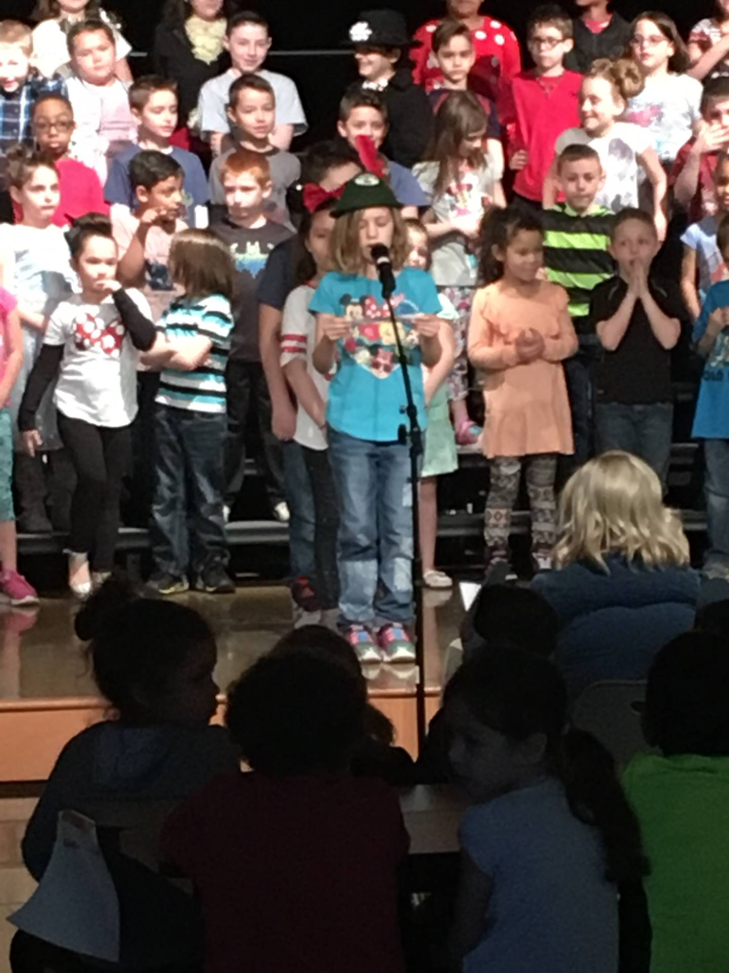 Second grade music program Spring 2018; Burns, Gilmartin, Dubaj, Elbon