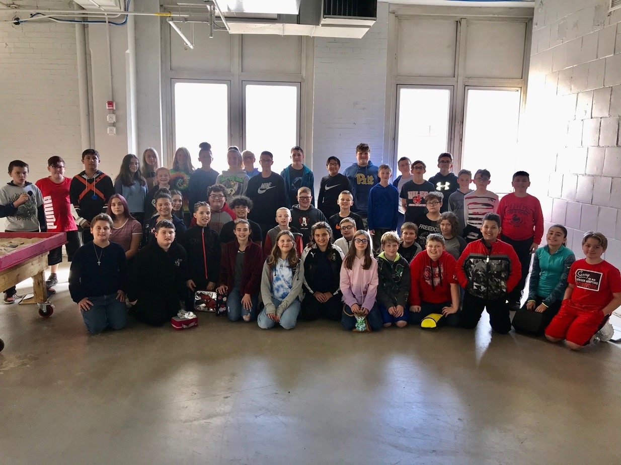 Niles Middle School students in advanced science classes go on a field trip to Inventor Cloud.