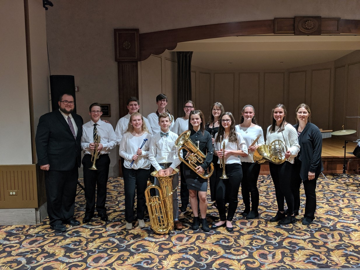 Niles High School and Middle School Honors Band Students