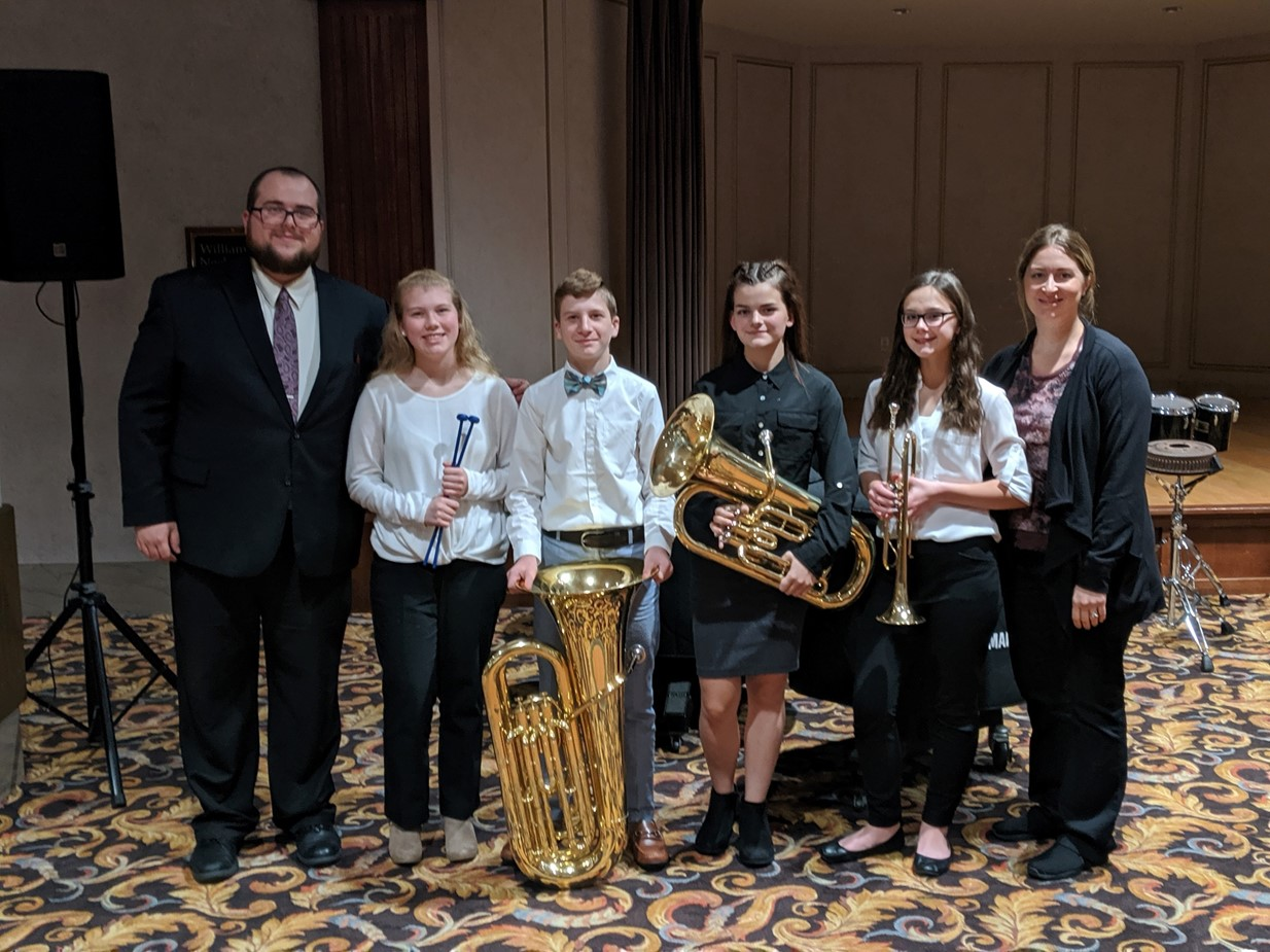 Niles Middle School Honors Band Students