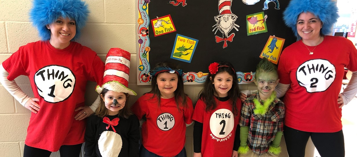 Niles Primary staff and students celebrate the birthday of Dr. Seuss.