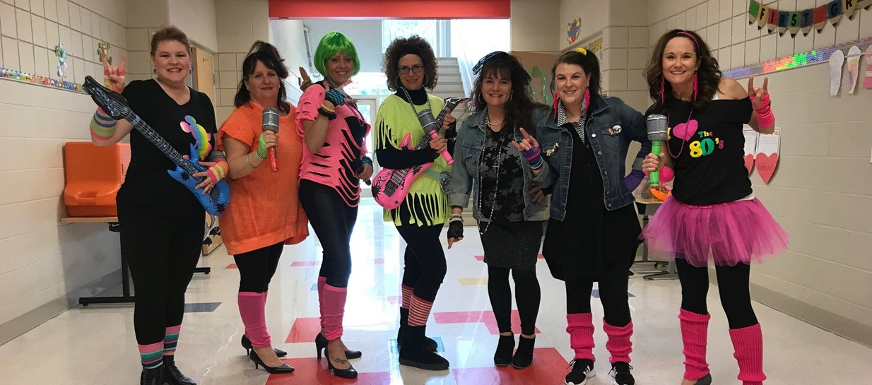 Teachers celebrate 120th day of school.