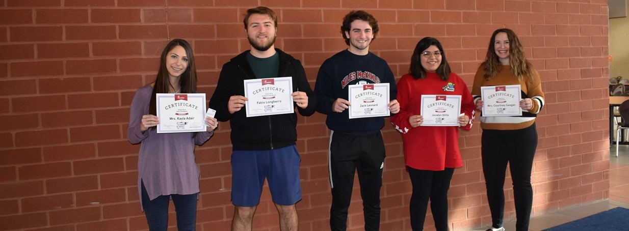 Chikfila staff students of the month for dec