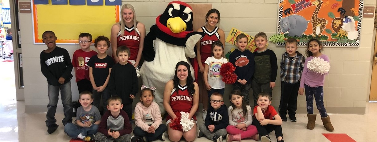 YSU staff visits Niles Primary School to promote literacy.