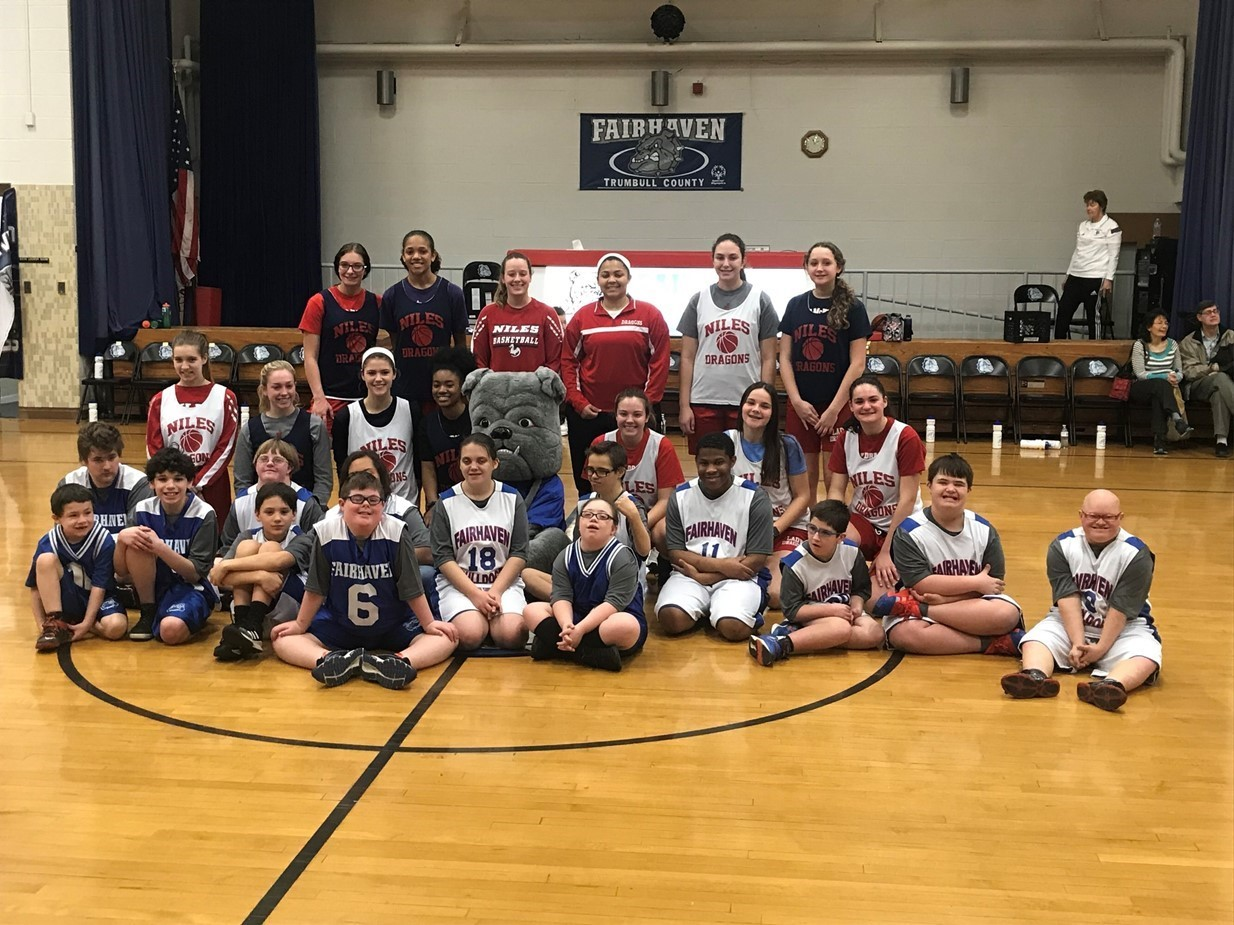 Niles High School students participated in the Special Olympics at Fairhaven School.