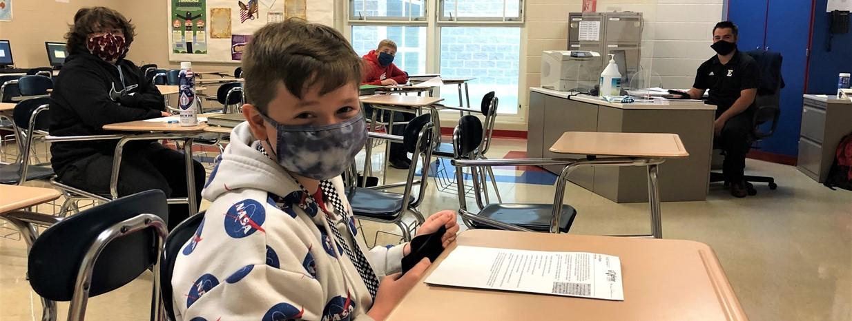 6th grade students in Mr. Carson's class