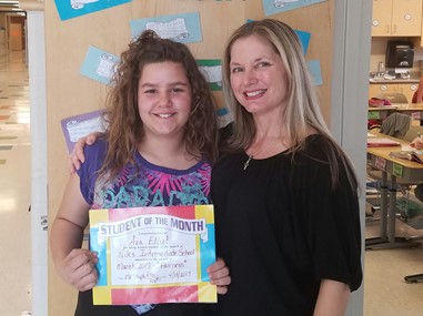 Fourth Grade Student of the Month (April), Ava Elliot: FAIRNESS