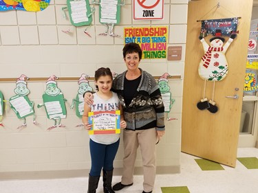 3rd Grade Student of the Month (Nov./Dec.), Emma Merlo: TRUSTWORTHINESS