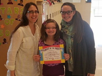 Fifth Grade Student of the Month (April), Gracie Glista: FAIRNESS