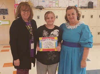 5th Grade Student of the Month, Whitney Bates:RESPECT